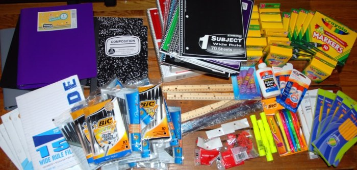 school supplies 2