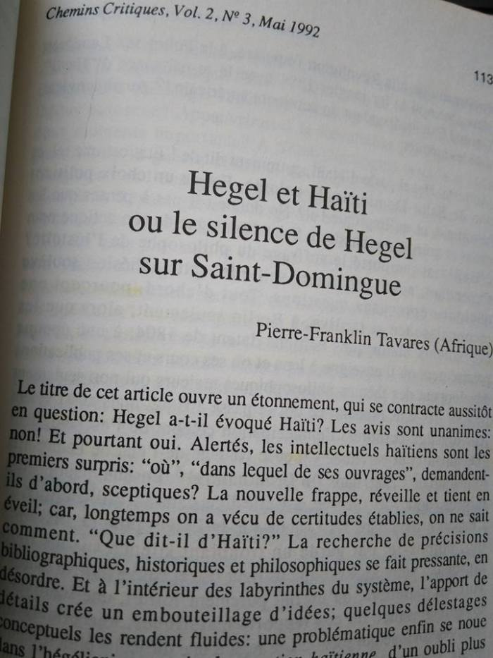 Hegel and Haiti 2
