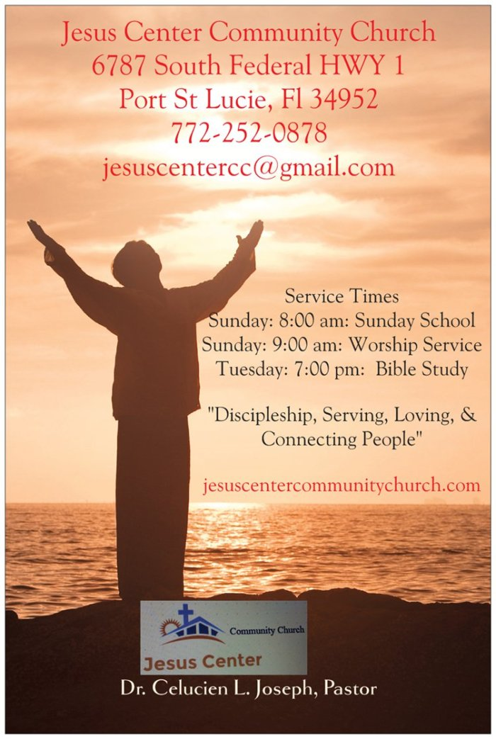 Jesus Center logo advertisement