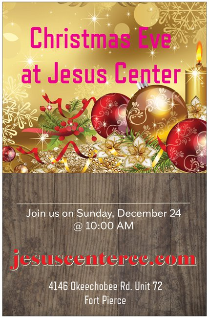 Christmas Jesus center